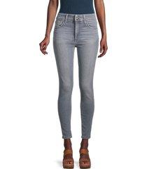 joe's jeans women's laverne high-rise skinny jeans - light grey - size 31 (10)