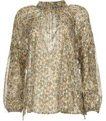 blouse met lurex cheriesh  beige