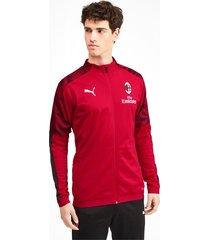 ac milan polyjack voor heren, rood/zwart, maat xs   puma