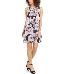 sl fashions floral chiffon cutout dress
