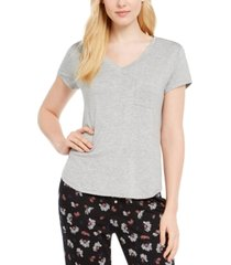 alfani super-soft knit pajama top, created for macy's