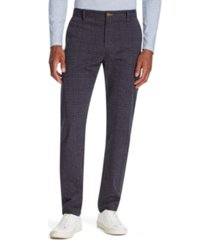 tallia men's straight-fit stretch houndstooth pants