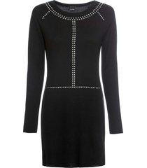 abito in maglia con borchie (nero) - bodyflirt