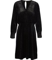 slfvaria ls short dress ex jurk knielengte zwart selected femme