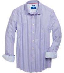 egara lavender & blue woven sport shirt