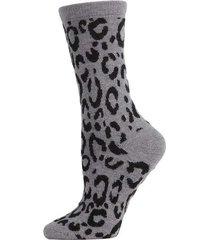 natori animal print socks, women's, grey natori