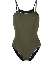 dsquared2 logo strap swimsuit - green