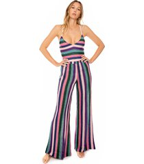 multicolor knitted palazzo pants