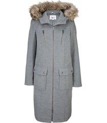 cappotto in simil lana con cappuccio (grigio) - bpc bonprix collection