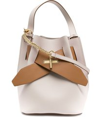 zac zac posen brigette belted bucket bag - white