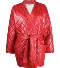 philosophy di lorenzo serafini quilted front tie coat - red
