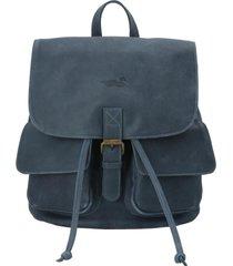 mochila cuero mujer rkf backpack azul rockford