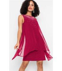 chiffon jurk met stras