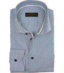 john miller shirt blauw gestreept tailored fit