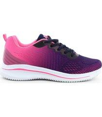 tenis running para mujer marca xtep, color morado
