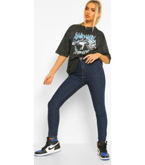 high rise disco jeans, indigo
