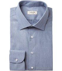 camicia da uomo su misura, ibieffe, effetto denim azzurra, quattro stagioni | lanieri