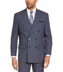 sean john men's classic-fit stretch double breasted suit separate jackets
