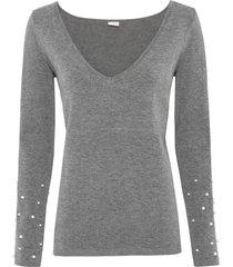 maglione con perle (grigio) - bodyflirt boutique
