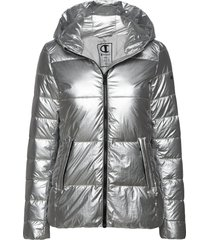 hooded polyfilled jacket gevoerd jack zilver champion
