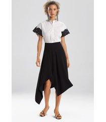natori solid crepe skirt, women's, black, size 14 natori
