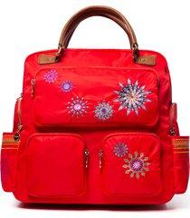 mochila ada rojo desigual