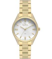 relógio technos 2036mkq/4b dourado