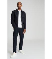reiss roehampton - zip through jacket in navy, mens, size xxl