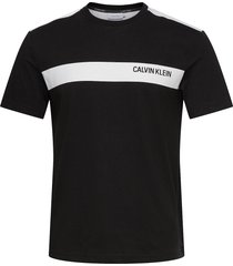 bold stripe logo t-shirt t-shirts short-sleeved svart calvin klein