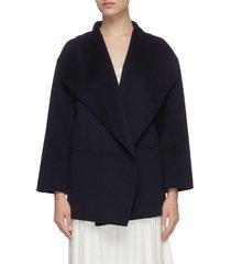 shawl collar cashmere coat
