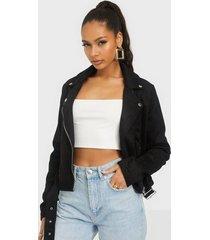 nly trend suede biker jacket skinnjackor