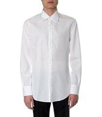 dsquared2 white cotton shirt with mini stones details