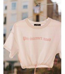 velours t-shirt met print