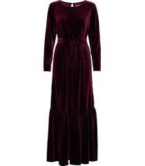 elvira velvet maxiklänning festklänning röd line of oslo
