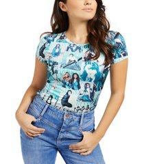 guess magazine-print t-shirt