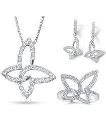 conjunto mariposas casual plata 925 arany joyas