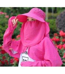nuevo sombrero para el sol respirable exterior para mujer-rosa