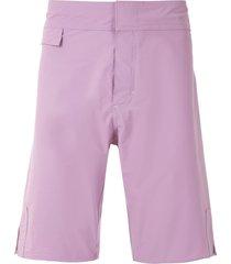 amir slama plain shorts - purple