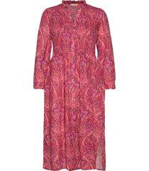 anna dress knälång klänning röd odd molly