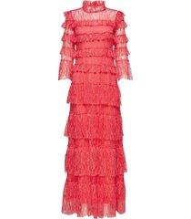 carmine maxi dress maxi dress galajurk rood by malina