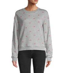 lip embroidery sweatshirt