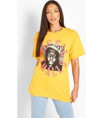 tall gelicenseerd biggie smalls t-shirt, yellow