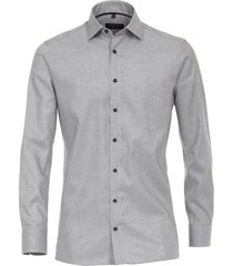 casamoda overhemd oxford kent modern fit grijs