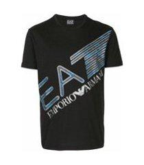 ea7 emporio armani camiseta com estampa de logo - preto
