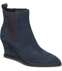 alea chelsea s shoes boots ankle boots ankle boots with heel blå shoe the bear