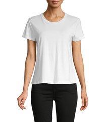 james perse women's short-sleeve cotton tee - black - size 2 (m)