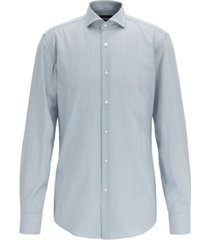 boss men's jason slim-fit striped merino wool shirt