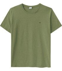 camiseta tradicional com bordado wee! verde musgo - m