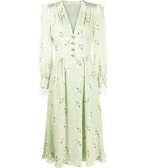 alessandra rich lace-panel dress - green