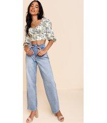 women's maggie high rise jeans in denim by francesca's - size: 9